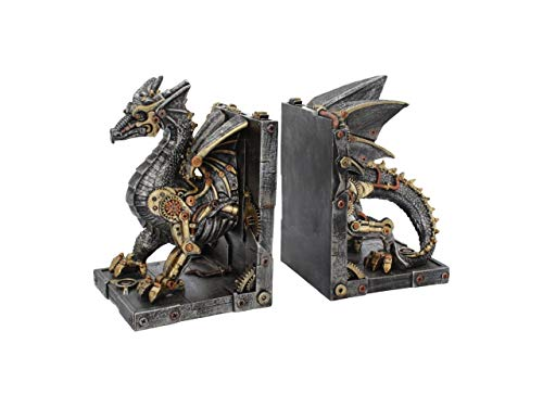 Nemesis Now Dracus Machina Bookends 27cm, Bronze (Kitchen & Home)