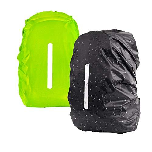 KATOOM Parapioggia per zaino 2 PCS Copertura per la pioggia dello zaino verde e nero All'aperto...