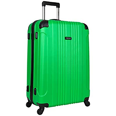 Multi-directional 4-wheel spinners for smooth, 360-degree movement Durable, lightweight hardside ABS exterior with molded corner guard reinforcements and a tear-resistant, fully lined interior Main compartment interior features double-sided packing, ...