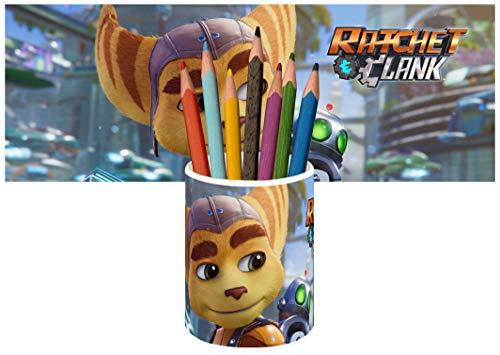 Ratchet & Clank Rift Apart Stiftköcher Keramik Stifthalter Keramikglas Pencil Holder Ceramic Glass
