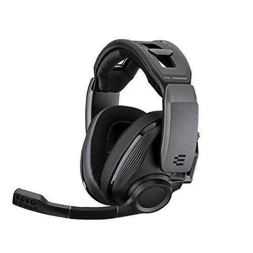 Sennheiser GSP 670 Casque Gaming sans Fil et Bluetooth à Faible Latence, Son Surround 7.1, Micro à réduction de Bruit avec Fonction Flip-to-Mute, Présélections Audio, pour PC, PS4 et Smartphones Noir