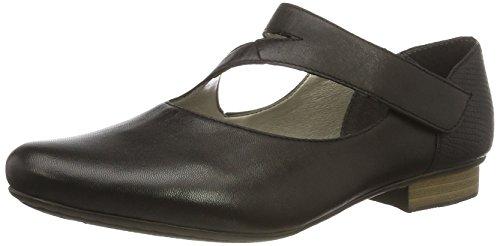 Rieker Mujer Bailarinas,Merceditas 51993, señora Merceditas, Zapato bajo,Mary-Jane Zapatos,Zapatos de Verano,Schwarz/Schwarz / 00,37 EU / 4 UK
