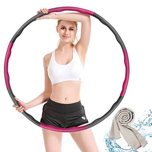 Hoola Hoop,Einstellbar Breit 48–88 cm beschwerter Hoola-Hoop-Reifen für Fitness Erwachsene und Kinder mit...