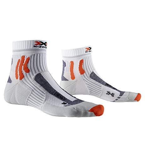X-Socks Marathon Energy, Calzini da Corsa Unisex-Adulto, Arctic White/Pearl Grey, 42-44