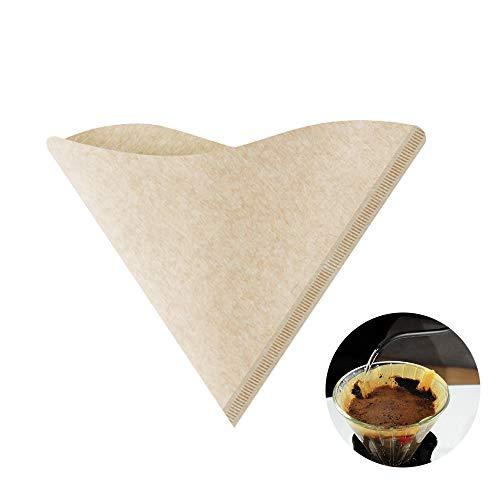 Filtros de papel de café, papel de filtro de café de madera natural sin blanquear, apto para...