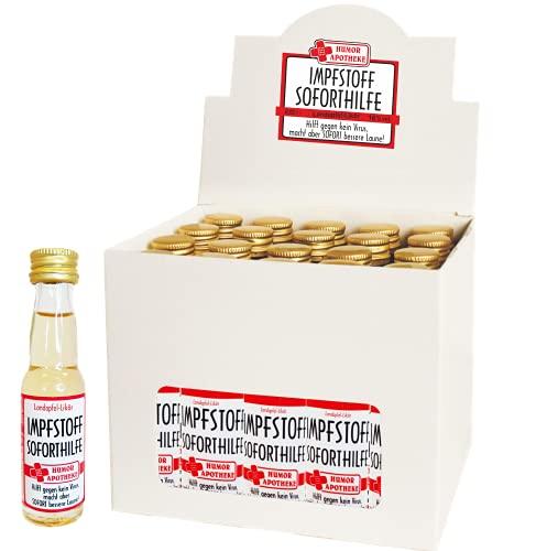 Kleiner Impfstoff Sofort Hilfe   Humormedizin   Scherzartikel für Erwachsene   Der erste Impfstoff gegen das Virus kommt aus unserer Humor Apotheke (Kleiner Impfstoff: - 20er Box Waldmeister-Likör -)