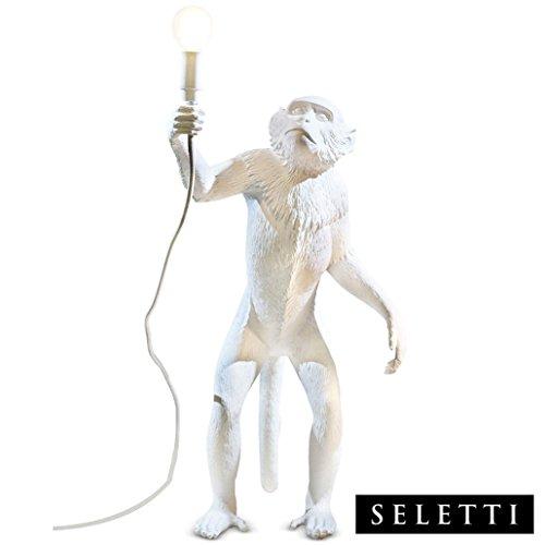 """Seletti 14880\""""Monkey Lamp Stehlampe AFFE 46 X 27,5 cm Höhe 54 cm, Harz, Weiß, 57,8 x 51,2 x 30 cm"""