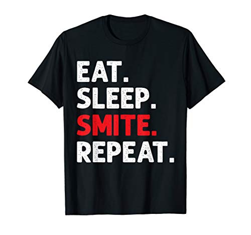 Eat Sleep Smite Repeat RPG Roleplaying Gamers T-Shirt