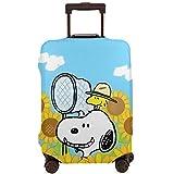 Anime Snoopy Funda de equipaje de viaje para maletas, fundas de equipaje con cremallera lavable
