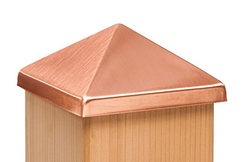 4x4 Post Point Cap - Solid Copper (3-1/2' x 3-1/2')