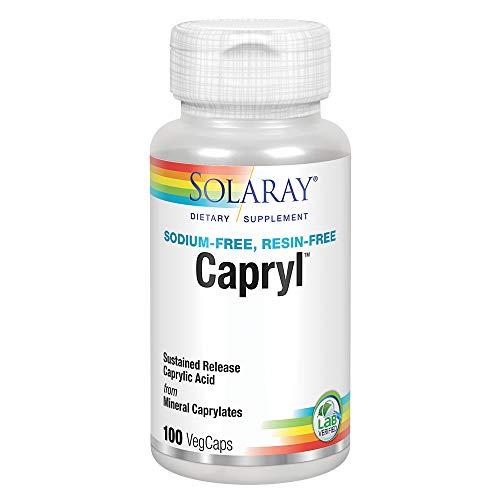 Solaray, Caprylsäure, 100 Veg. Kapseln