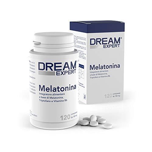 Dulàc - Dream Expert - 120 cpr - Integratore con Melatonina (1mg) + Triptofano (75 mg) e Vitamina B6 (1,4 mg) - AZIONE RAPIDA - Notificato al Ministero della Salute Italiano
