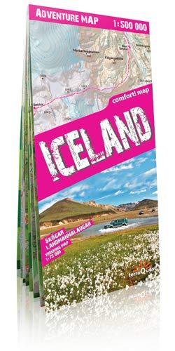 Islandia, mapa de carreteras plastificado. Escala 1:500.000. TerraQuest. (Adventure Map)