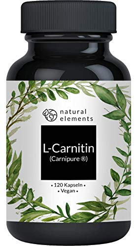 L-Carnitin 3000 - Vergleichssieger 2019* - Premium: Carnipure® von Lonza - 120 Kapseln - Laborgeprüft, hochdosiert, vegan, hergestellt in Deutschland