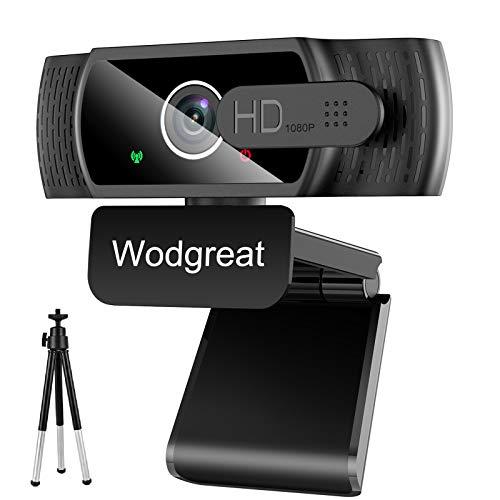 Wodgreat Webcam con Micrófono para PC, Cámara Web 1080P Full...