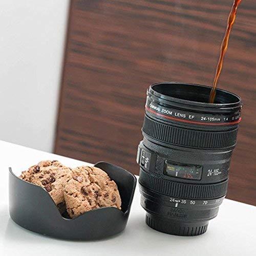 InnovaGoods Taza Multifunción, ABS, Negro, 8x8x12 cm