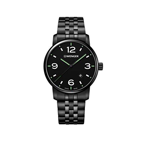 Wenger Unisex Erwachsene Analog Quarz Uhr mit Edelstahl Armband 01.1741.119