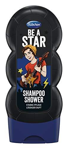 Bübchen Kids Shampoo und Shower Be a Star, Kinder-Shampoo und -duschgel, pH-hautneutrale Pflege für Kinderhaut, mit frischem Duft, Menge: 1 x 230 ml