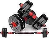 Qinmo El entrenamiento de fuerza ajustable ajustable con barra mancuernas de Doble Uso de Pesas juego de equipos de gimnasia bolsa de plástico ajustable Dispositivo Brazo Entrenamiento Ejercicio Pesas