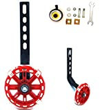 YJIA a Pair of Bicycle Flash Mute Training Wheels for 12 14 16 18 20 inch Single Speed Bicycle stabilizer (Red)