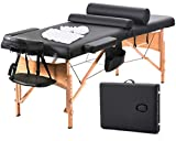BestMassage Massage Table Massage Bed Spa Bed 73 Inch Heigh Adjustable 2 Fold Portable Massage Table W/Sheet Cradle Cover 2 Bolster Hanger Facial Salon Tattoo Bed