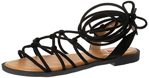 Sandalias Mujer MTNG   Sandalias Palmira 58351   MTNG Mujer   Sandalias Romana   Cierre con Cordones   45088   Negro   37