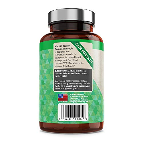 Garcinia Cambogia - by Vitamin Bounty - 100% Pure Extract - 60 Count - 1000mg 7