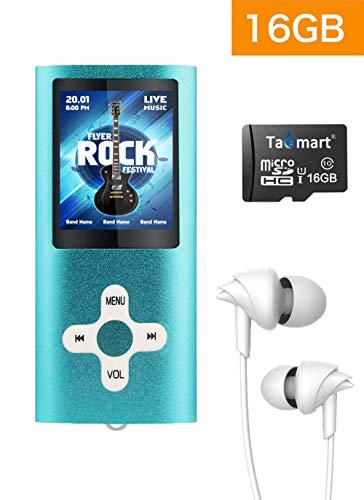 Tabmart Metal Hi-Fi Capacit Di 16GB Lettore MP3 Musicale Portatile Lettore MP4 Ad Alta Risoluzione...
