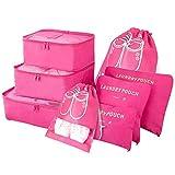 Vicloorganizador de maletas, sistema de cubos de viaje de 8 piezas, separadores de sobres de viaje ...
