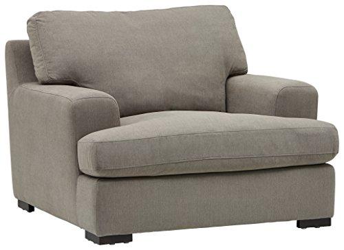 Amazon Brand – Stone & Beam Lauren Down-Filled Oversized Living Room Accent Armchair, 46'W, Slate