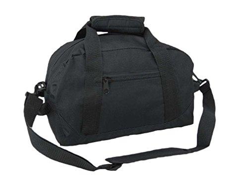 DALIX 14' Small Duffle Bag Two Toned Gym Travel Bag (Black)