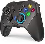 Wireless Controller di gioco Bluetooth per PC Windows 7 8 10/Nintendo Switch/Android 4.0 UP/iOS, Joystick Gamepad con del Movimento Giroscopico a 6 Assi, Doppia Vibrazione, Pulsanti M, Funzione TURBO