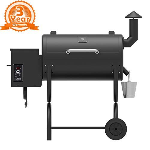 Z GRILLS ZPG-550B 2019 Upgrade Model Wood Pellet Grill & Smoker 6 in 1 BBQ Grill Auto Temperature Control, sq Inch Deal, 550 Sqft Black