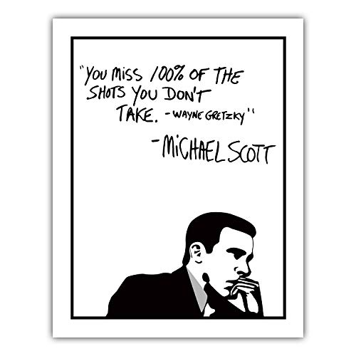 Michael Scott Motivational Quote Poster