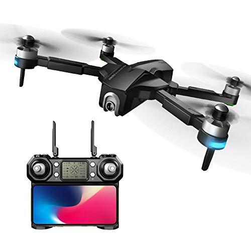 Bascar Drone RC XMR/C M8 5G WiFi FPV GPS con Fotocamera HD 4 carati Modello VR Pieghevole RC Drone quadricottero RTF con Posizione Flusso-Ottica Angolo Fotocamera Regolabile 90 , Nero