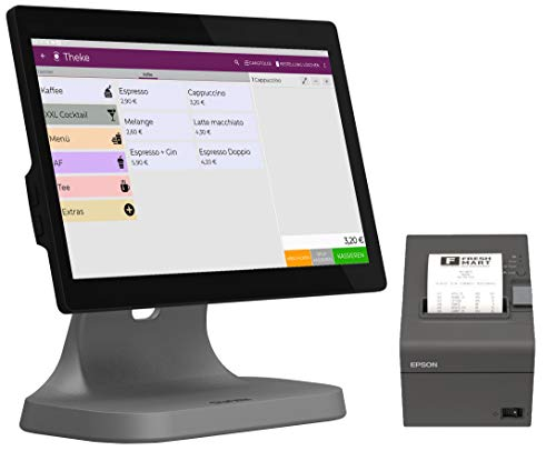"Registrierkasse Kassensystem | Finanzamtkonform 2020 | TSE* | Kassensoftware ""LYNNE"" | integrierter Bondrucker | Gastronomie, Handel | GRATIS Ersteinrichtung des POS Terminal (T2 lite + Drucker) WIFI"