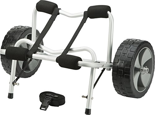 attwood 11930-4 Kayak and Canoe Cart, Large-Diameter Wheels, No-Deflate Tires, Carries Up to 100 Pounds, Aluminum