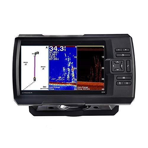 Fishfinder,Striker 7sv con trasduttore, ecoscandaglio GPS da 7'con trasduttore ecoscandaglio Chirp tradizionale, ClearVu e SideVu e software di mappatura contorni Quickdraw incorporato