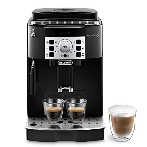 De'Longhi Magnifica S ECAM 22.110.B, Kaffeevollautomat mit Milchaufschäumdüse, EXKLUSIV BEI AMAZON, Direktwahltasten für Espresso und Kaffee, 2-Tassen-Funktion, 1,8 Liter Wassertank, schwarz/silber