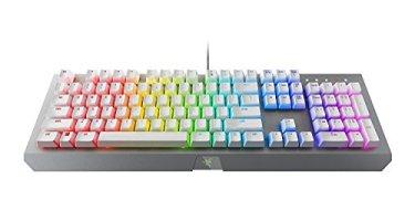 Razer BlackWidow X Chroma Mechanical Gaming Keyboard: Green Key Switches - Tactile & Clicky - Chroma RGB Lighting - Military-Grade Metal Construction - Mercury White