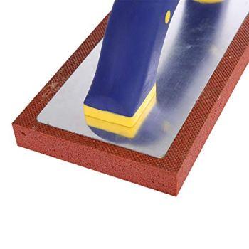 Truelle dentée professionnelle, outil de carrelage de flotteur, truelle d'écrémage de coins carrés, flotteur de coulis de carrelage de sol pour le béton d'outil de truelle de revêtement de
