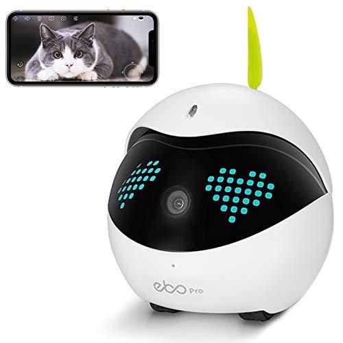 Enabot Ebo Pro Familybot Sicherheitsüberwachungsroboter, intelligente IP-Kamera, Petpal Catpal Live-Video, Begleiter für Haustiere mit Fernbedienung (Ebo Pro)