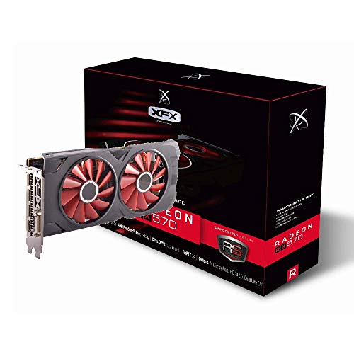 XFX RX-570P8DFD6, Tarjeta Gráfica 8GB GDDR5, AMD Radeon RX 570,...