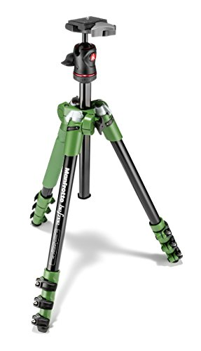 Manfrotto コンパクト三脚 Befree アルミ 4段 ボール雲台キット グリーン MKBFRA4G-BH