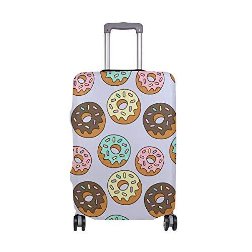 Funda para equipaje de viaje con estampado de donut elástico protector de maleta lavable cubre equipaje se adapta a 18-32 pulgadas