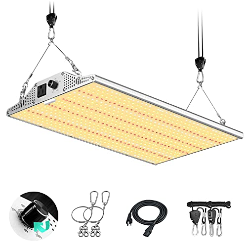 Yehsence Y2000 LED Grow Light 4x4ft Coverage, Upgraded Daisy Chain Grow Lights for Seedling,...