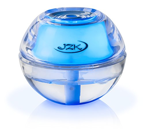 JZK Mini Portable Personal Cool Mist Air Humidifier with Night Light for Travel, Car, Baby, Desk, Throat, Nose 4 - 8 Hours