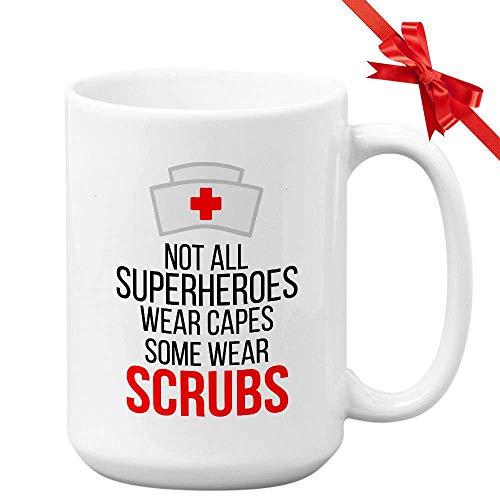 Tazza da infermiera Non tutti i supereroi indossano cappe da ospedale Assistenza sanitaria Medico...