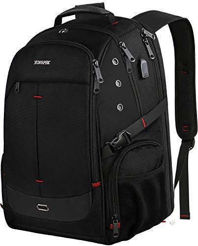 Large Backpack for Men,Laptop Backpack with USB Charging Port,TSA Friendly Travel Laptop Backpack College School Bookbag Water Resistant Business Computer Bag Fit 17inch Laptops,Black