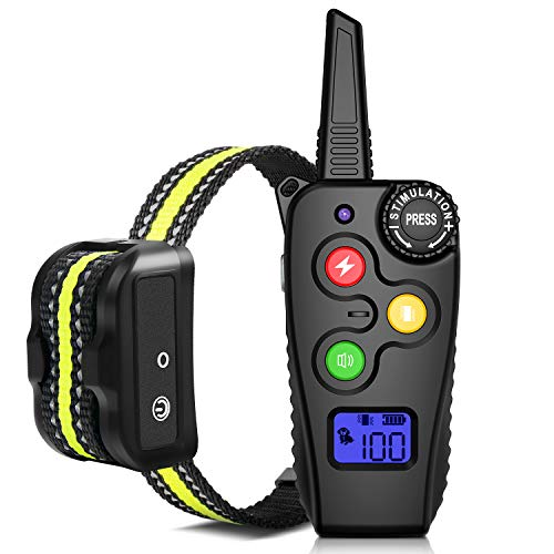 Ankace Shock Collar for Dogs with Remote 2800 Feet Rechargeable Dog Training Collar Waterproof Dog Shock Collar